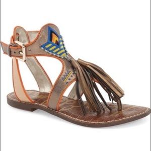 Sam Edelman Giblin Tassel Sandals Size 7.5